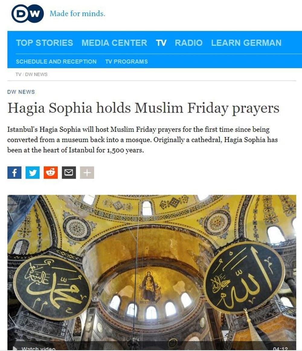 86 yıl sonra ibadete açılan Ayasofya Camii dünya basınında - 4