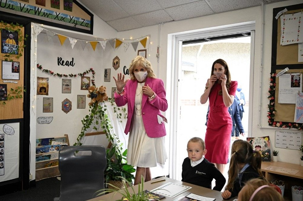 First Lady Jill Biden ve Cambridge Düşesi Kate Middleton buluştu: Birlikte okul ziyareti - 5