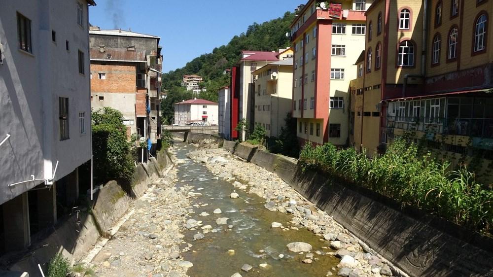 Trabzon'da tedirgin eden görüntü: Giresun'un Dereli ilçesi gibi sel riski taşıyor - 7