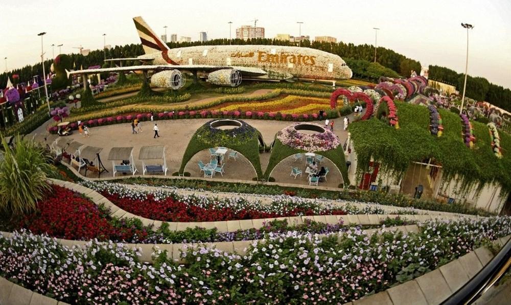 Dünyanın en büyük çiçek bahçesi Dubai'de açıldı - 8