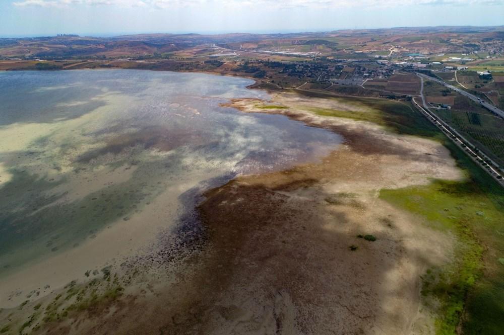 Büyükçekmece Gölü'nde su seviyesi düşüyor - 7