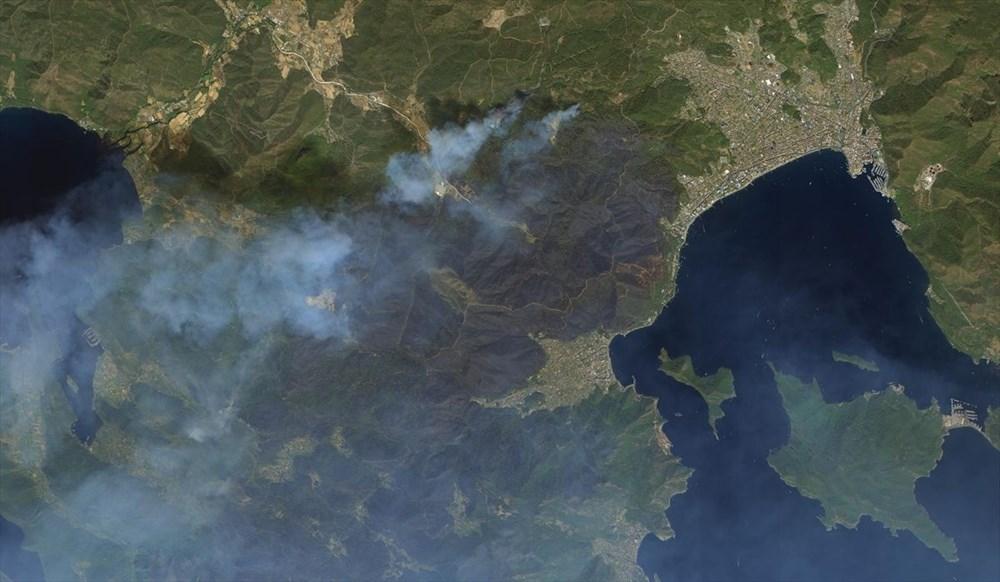 Göktürk uyduları, Manavgat ve Marmaris'teki orman yangınlarını uzaydan görüntüledi - 1