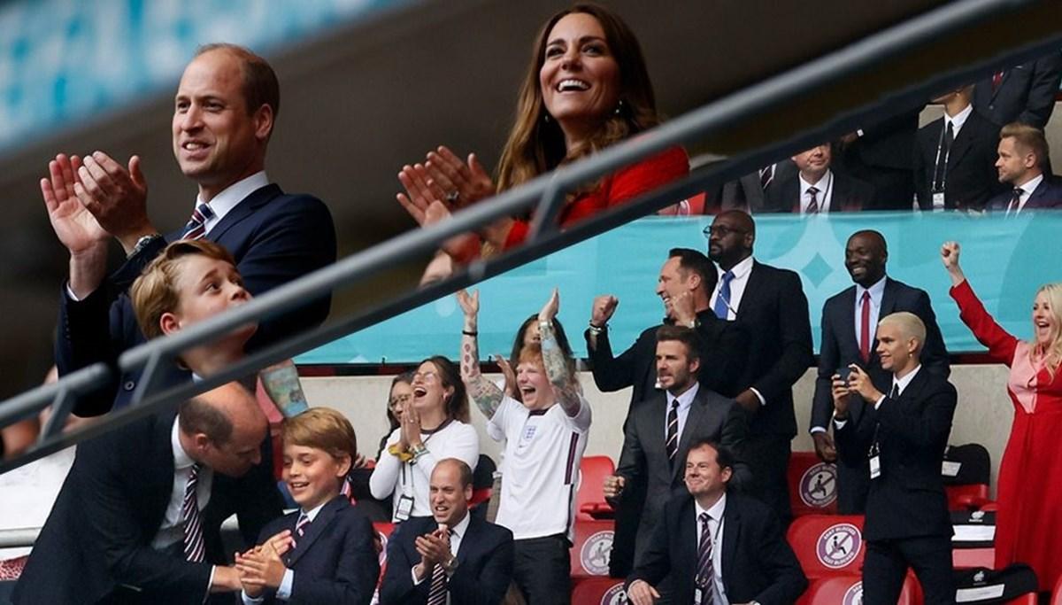 Kraliyet Ailesi, David Beckham ve Ed Sheeran EURO 2020 İngiltere-Almanya Maçı tribününde