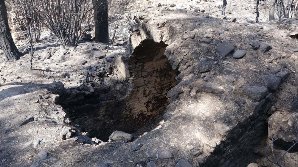 Yangın Lyrbe'yi de vurdu: Antik kent küle döndü - 11