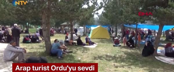 Arap turistler Karadeniz yaylalarını sevdi