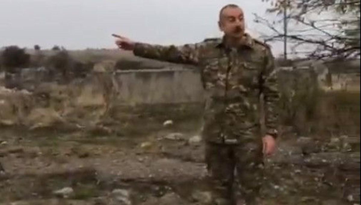 Azerbaycan Cumhurbaşkanı Aliyev, işgalden kurtarılan Fuzuli ve Cebrail'i ziyaret etti