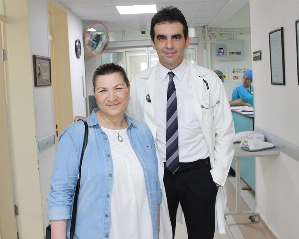 Esin Yüzgeç ve doktoru Kutsal Turhan
