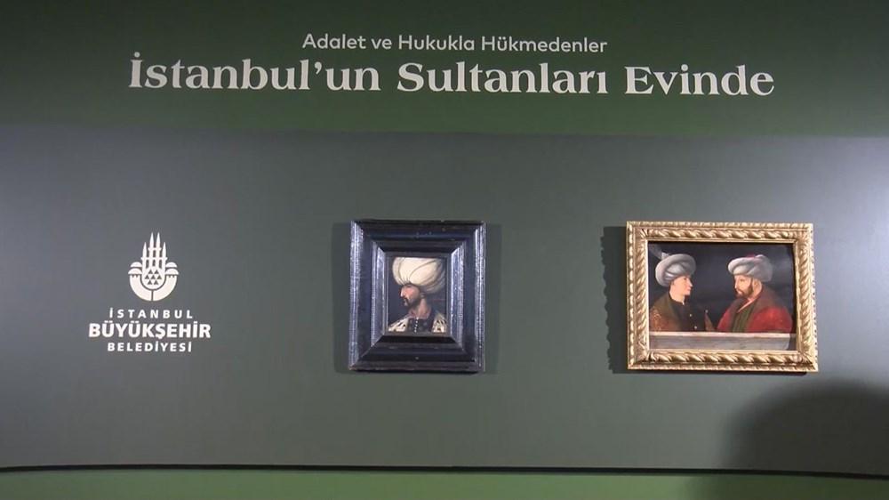 Kanuni Sultan Süleyman portresi Fatih Sultan Mehmet'in portresinin yanında - 4