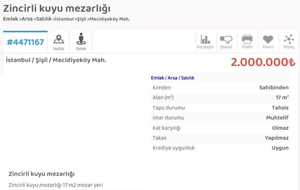 İstanbul'da mezar karaborsası; 2 milyon liraya mezar yeri satıyor - 9