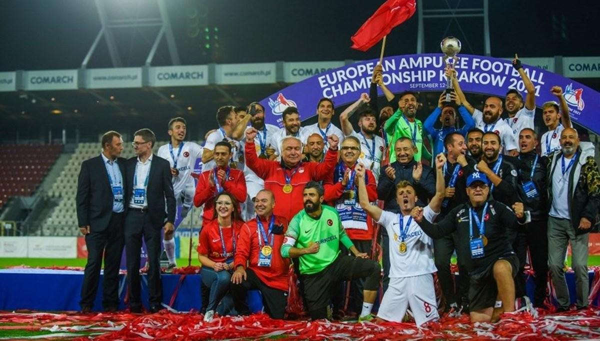 SON DAKİKA:Ampute Futbol Milli Takımı üst üste ikinci kez Avrupa Şampiyonu