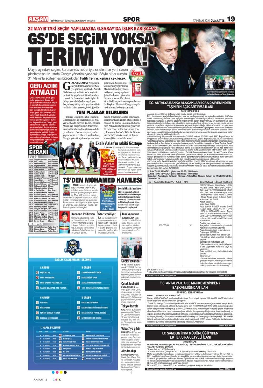 Günün spor manşetleri (17 Nisan 2021) - 2