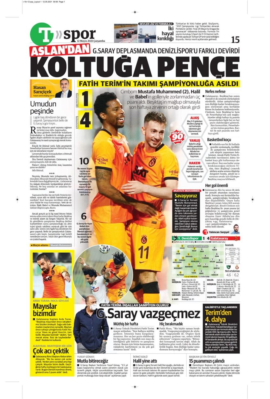 Günün spor manşetleri (12 Mayıs 2021) - 20
