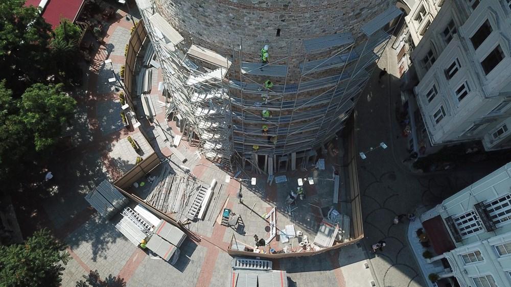 Galata Kulesi'nde restorasyon başladı - 8