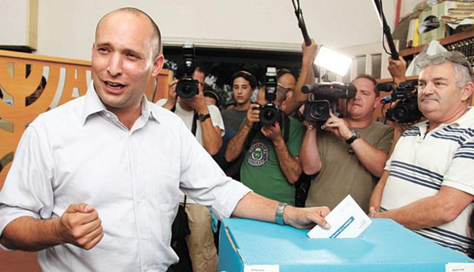 İsrail'in en genç politikacılarından biri olan Natfali Bennett, seçimde ikinci parti olarak çıkmayı hedefliyor.