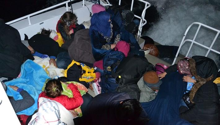 Aydın'da 111kaçak göçmen yakalandı