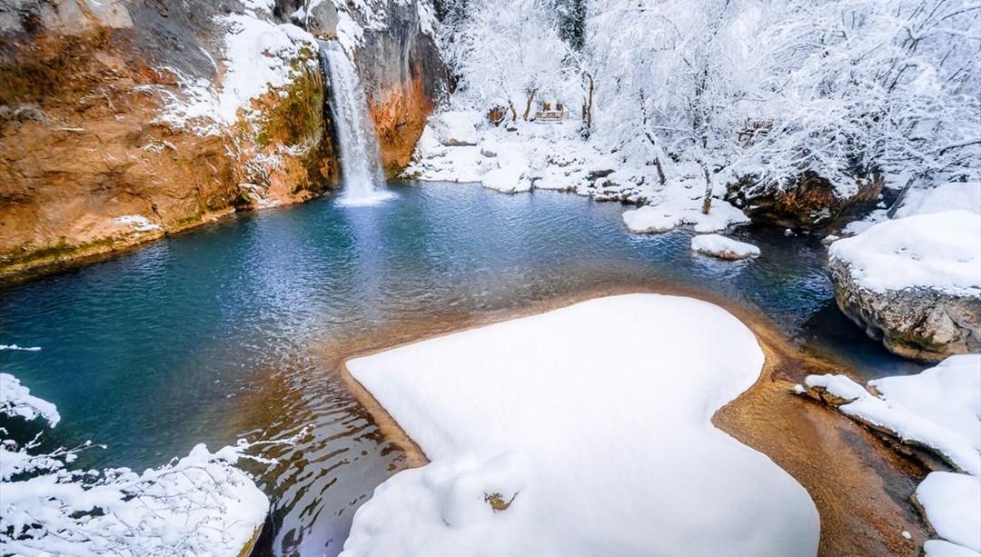 Kastamonu'da bir doğa harikası Horma Kanyonu! Kar altında doyumsuz manzaralar sunuyor