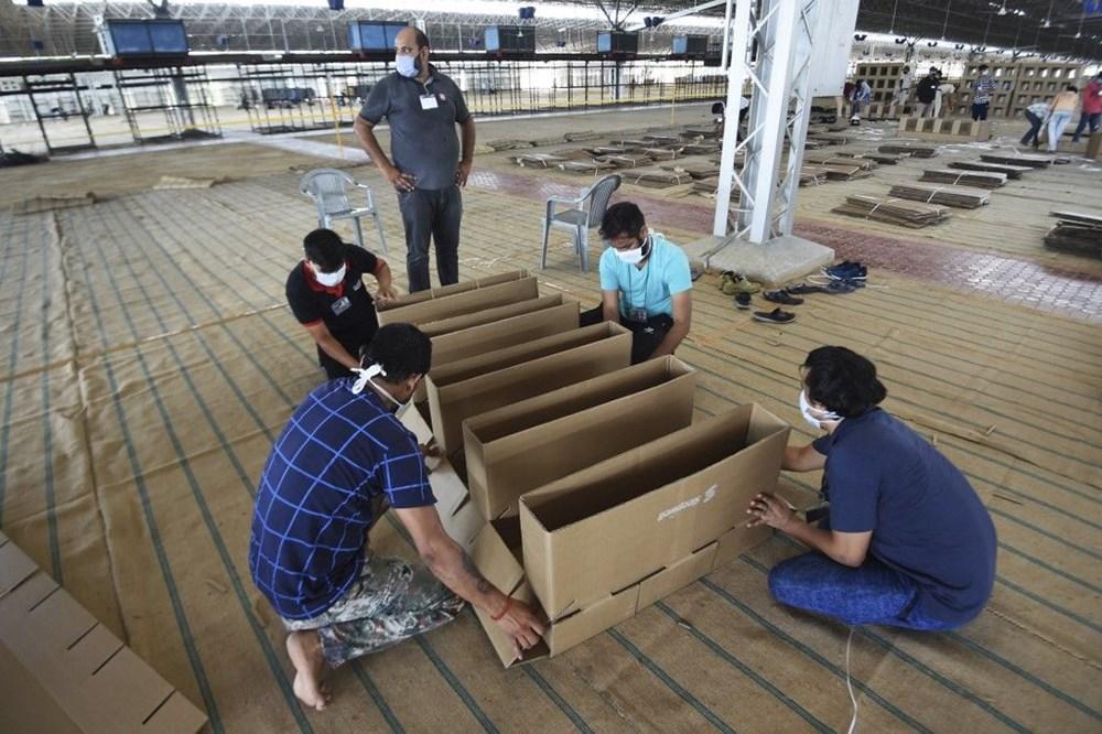 Hindistan'da Covid-19'a karşı karton yatak çözümü - 1