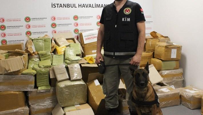 İstanbul Havalimanı'nda 1.7 ton uyuşturucu ele geçirildi