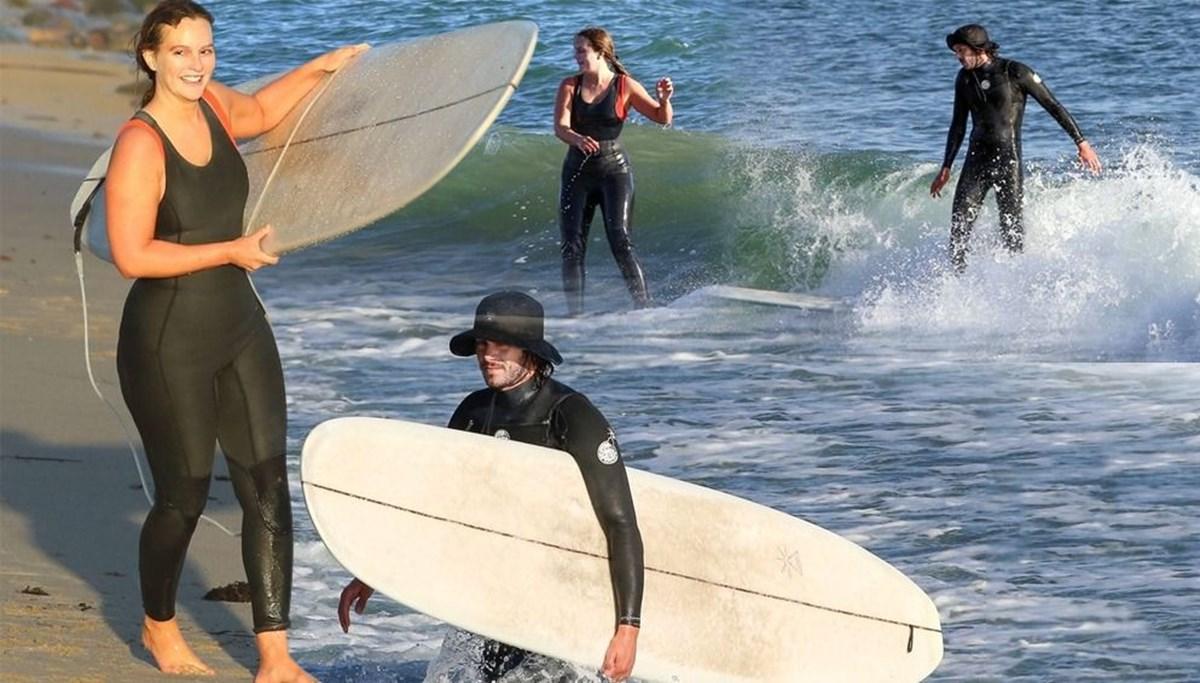 Adam Brody ve Leighton Meester'ın sörf tutkusu