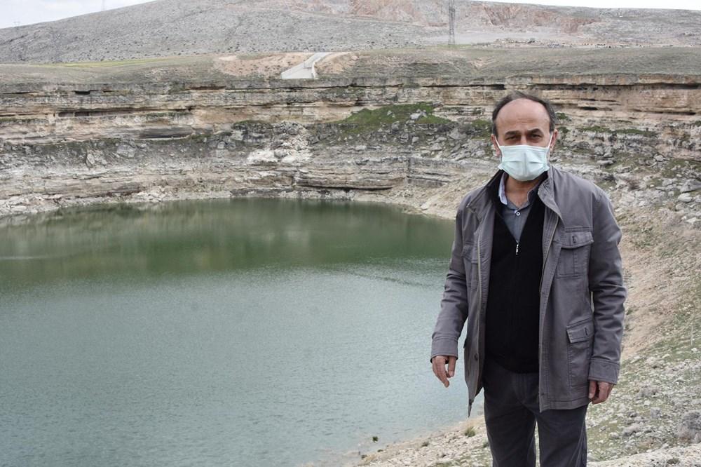 Timraş Obruk Gölü'nün suyu 8 metre azaldı - 11
