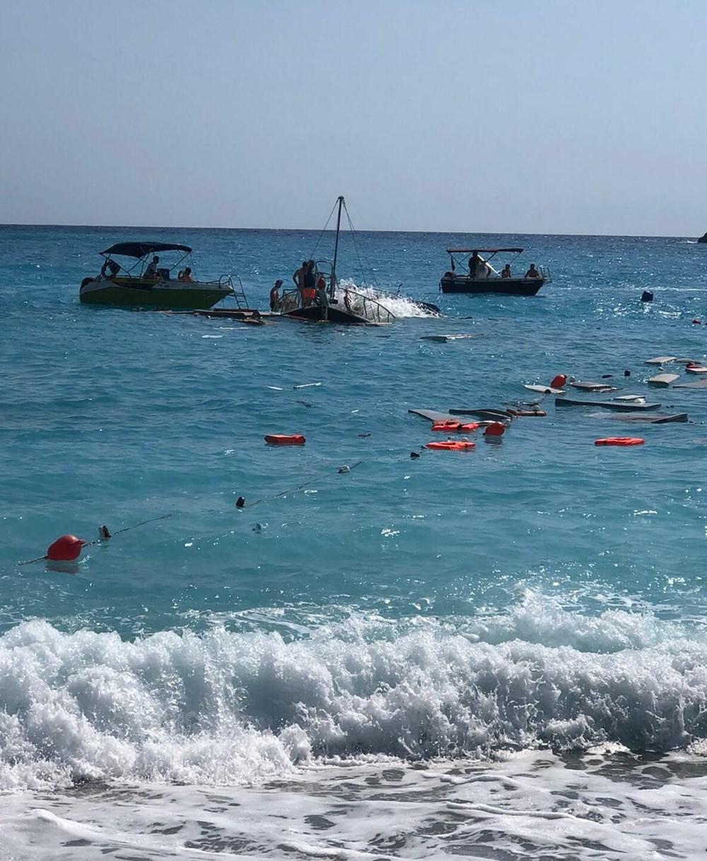Fethiye'de tur teknesi battı - 5