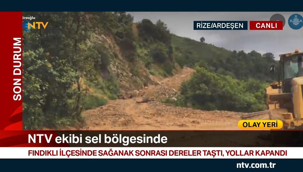 NTV ekibi sel bölgesinde