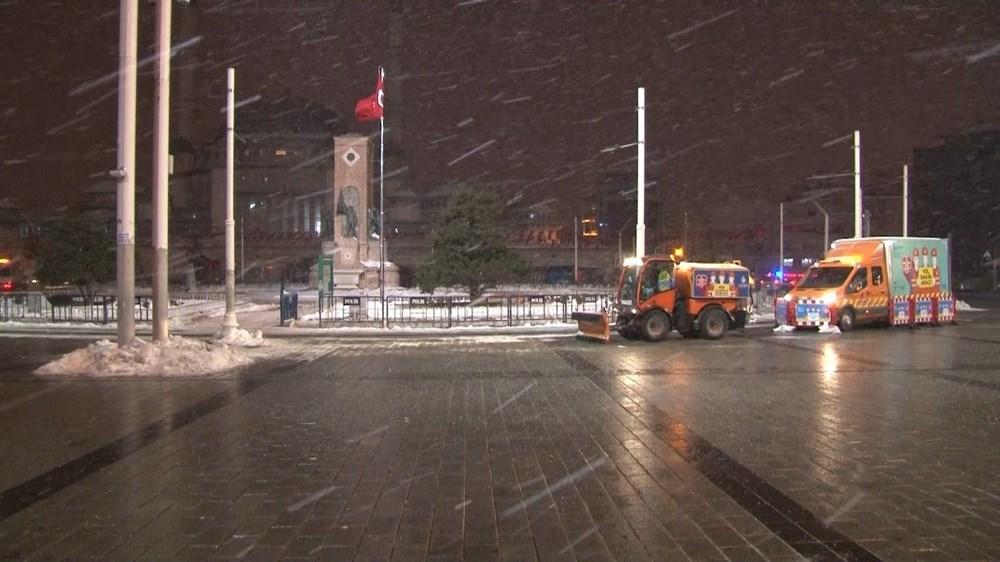 İstanbul'da kar yağışı yeniden etkisini artırdı - 27