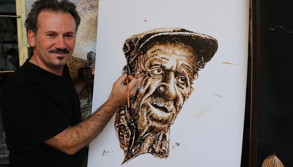 Mardinli ressam Nurettin Çakmak zifte yaptığı resimleri Berlin'de sergileyecek