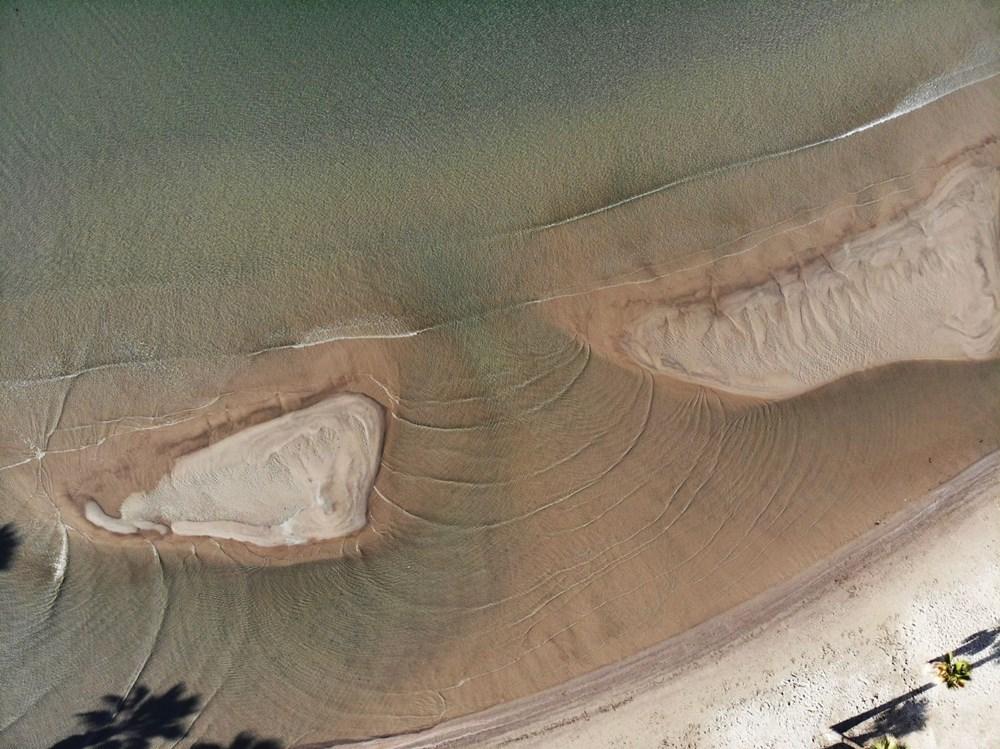Muğla'da deniz 20 metre çekildi - 10