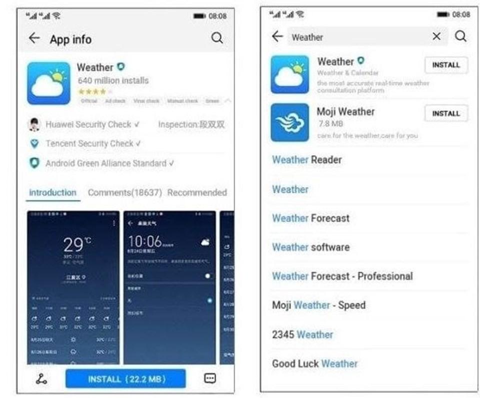 Çin merkezli Huawei'nin Google yasağına karşı 'B planı' olarak lanse ettiği işletim sistemi ARK OS'a ait ekran görüntüsü.