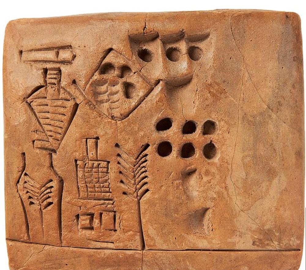 Tarihteki 'ilk imzayı' içeren 5 bin yıllık tablet 175 bin sterline satıldı - 2