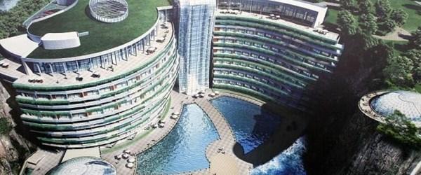 Çin'de yeraltına otel kuruldu