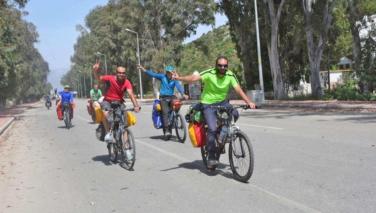 İranlı bisikletliler Türkiye turunda: 450 kilometre yol kat edecekler