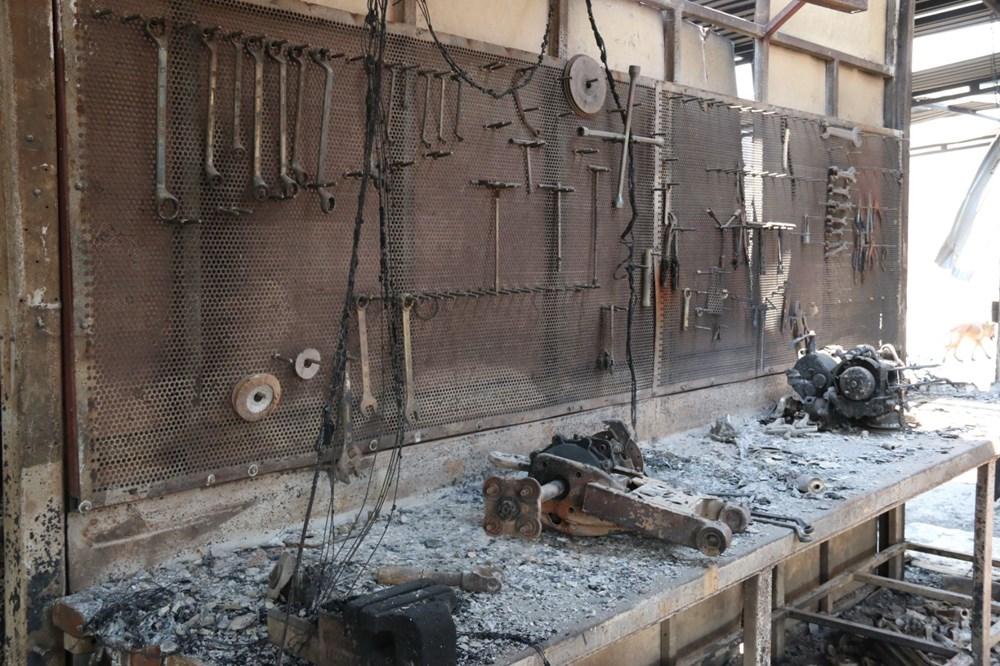 Manavgat'ta safari tesisi küle döndü, alevlerin arasında kalan işletme sahibi ölümden döndü - 12