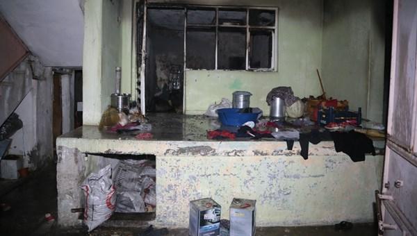 Yangın çıkan evde mahsur kalan 3'ü çocuk, 2'si hamile 7 kişi kurtarıldı