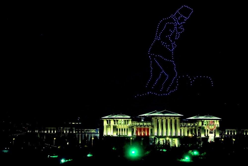 Beştepe'de Zafer Bayramı'na özel 300 İHA ile ışık gösterisi - 5