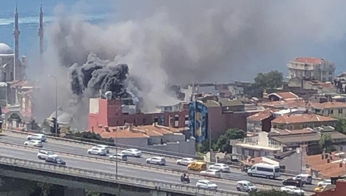 SON DAKİKA:İstanbul Ortaköy'de otel yangını