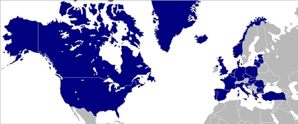 NATO üyesi ülkeler.