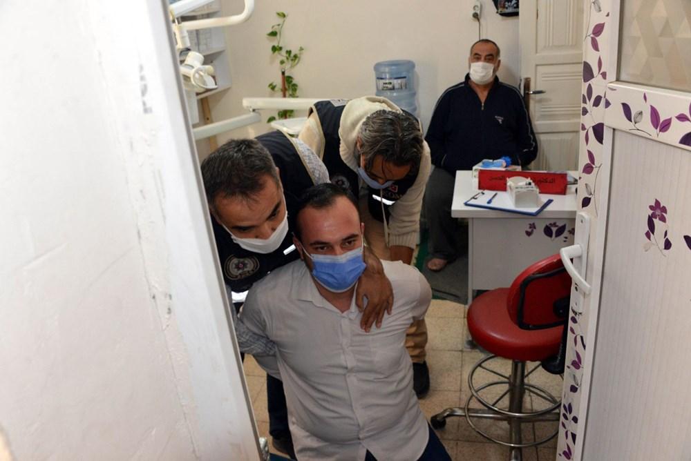 Suriyelilerin işlettiği 6 kaçak kliniğe polis baskını - 17
