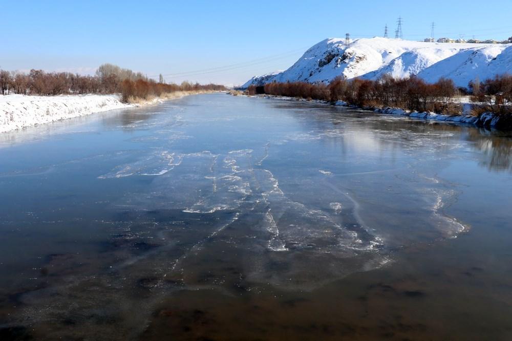 Türkiye'nin en soğuk yeri Sivas Altınyayla oldu, Kızılırmak kısmen buz tuttu - 4