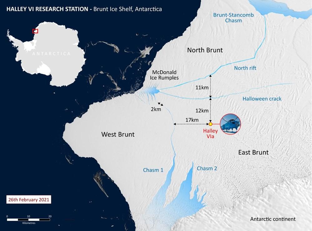Antartika'da dev buz kütlesi buz sahanlığından koptu - 3