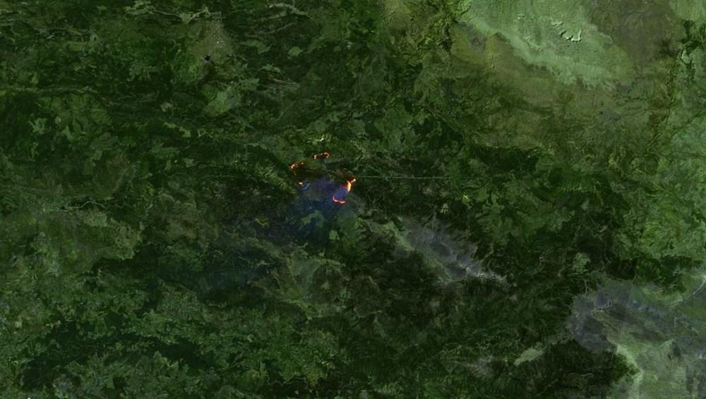 Orman yangınları uydudan böyle görüntülendi - 8
