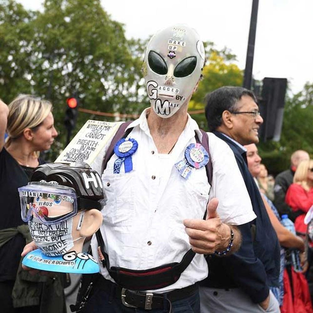 Maske karşıtı yüzlerce kişiden protesto - 4