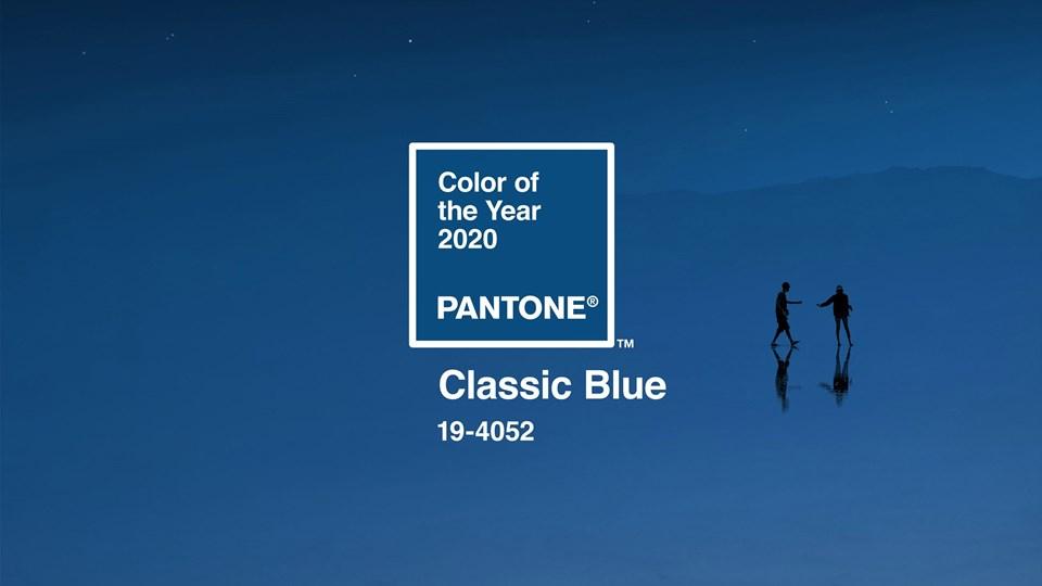 Pantone kataloğunda 2020'nin rengi klasik mavi.