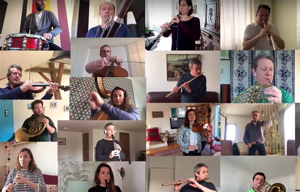 Fransa Ulusal Orkestrası karantina günlerinde evden konser verdi