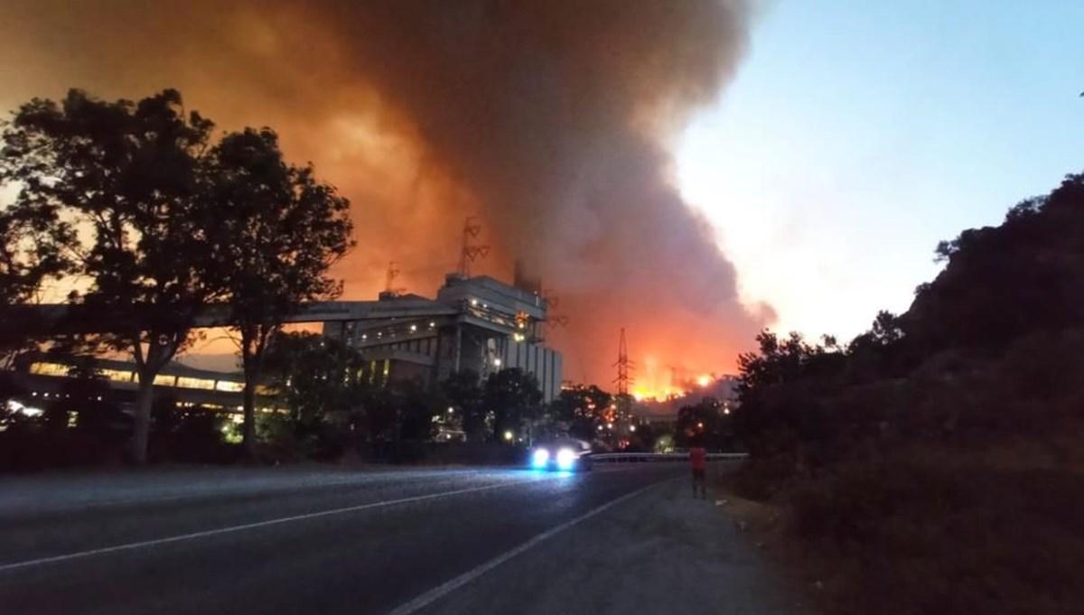 Yangın Milas'taki termik santrale sıçradı