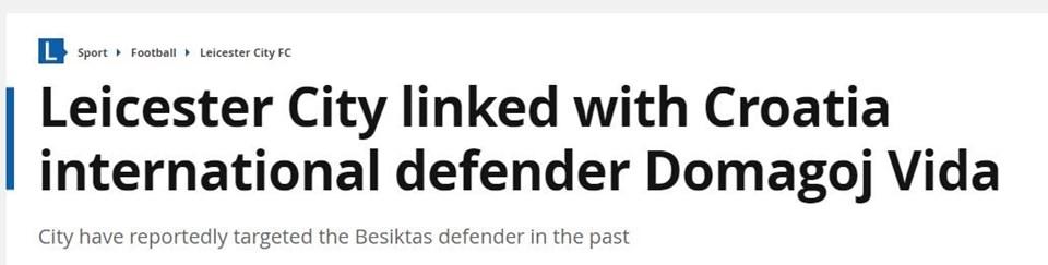 Hırvatistan'ın Damimarkayı elediği maçta kusursuz bir oyun sergileyen Vida'ya Leicester City de talip oldu...