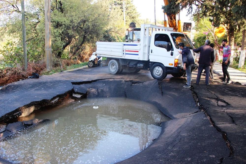 Patlayan asfalta kamyonet düştü: Canımızı son anda kurtardık - 6