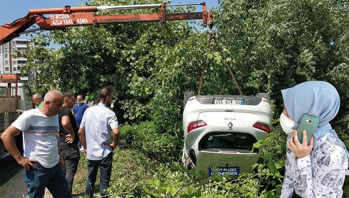 Ehliyet sınavında sürücü adayının kullandığı araç takla attı