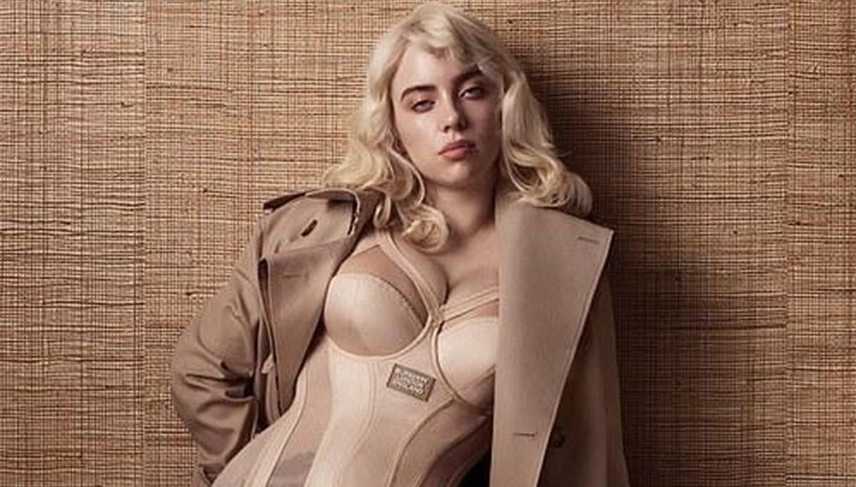 Billie Eilish Vogue için Marilyn Monroe gibi poz verdi